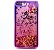 Для iphone 7 плюс 7 tpu материал покрытие лазерная резка quicksand телефон чехол 6s плюс 6 плюс 6s 6 se 5s 5