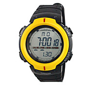 Men's Sport Watch Digital Watch Chinese Digital Calendar Water Resistant / Water Proof Stopwatch Rubber Band Black