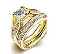 Жен. Классические кольца Кольцо Обручальное кольцо Мода Простой стиль Свадьба бижутерия Титановая сталь Круглой формы Бижутерия Назначение