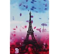 Назначение Чехлы панели Бумажник для карт со стендом Флип С узором С поддержкой Smart Touch Чехол Кейс для Цветы Эйфелева башня Твердый