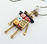 Euramerican Fashion Joker Sweater Multicolor  Robot Necklaces Lady Daily Movie Jewelry