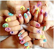 10PCS Nail Art Sticker  Water Transfer Sticker Makeup Cosmetic Nail Art Design Pattern is Random