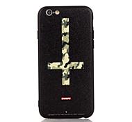 Для яблока iphone 7 7 плюс iphone 6s 6 плюс чехол чехол крест шаблон 3d рельеф пластиковые задние оболочки tpu фреймы
