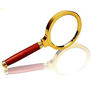Amplification 10X 80mm Optical Magnifying Glass Handheld Reading Magnifier