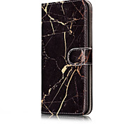 Pour Apple iphone 7 plus / iphone 7 carte support avec support flip case marbre dur pu cuir pour iphone 6 / iphone 6 plus