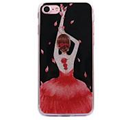 Para maçã iphone 7 7plus caso cove dança menina padrão flash em pó processo imd tpu material telefone caso iphone 6 6s plus se 5s 5