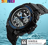 Women's Men's Digital Quartz Watch Big Dial 50M Waterproof LED Clock Dual Display Sports Watches