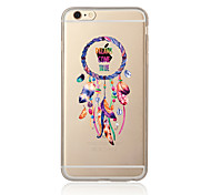 Случай для iphone 7 7 плюс рисунок улавливателя сновидения tpu мягкая задняя крышка мультфильма для iphone 6 плюс 6s плюс iphone 5 se 5s