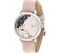 Women's Fashion Watch Quartz Leather Band Pink