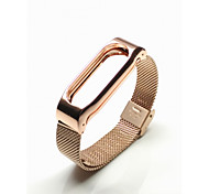 Butterfly Clasp Stainless Steel Watch Band for Xiaomi Miband 2