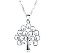 Жен. Муж. Заявление ожерелья Дерево жизни Серебрянное покрытие Мода Бижутерия Назначение Повседневные