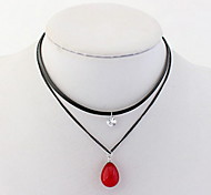 Korean Style Fashion Elegant Droplets  Layered Necklaces  Women's Gemstone PartyAnd Daily Pendant Necklace Jewelry Gifts