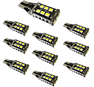 10pcs W16W T15 2835 15SMD High Power Decoding Reversing Light With Constant Current IC 6000K  DC12V-24V