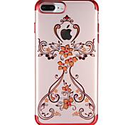 Case for Apple iPhone 7 7Plus Cartoon Rhinestone Transparent Pattern Soft TPU Back Case for iPhone 6s Plus e 6 Plus  6s  6