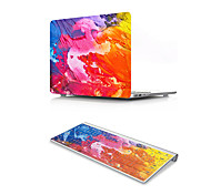 For MacBook Air 11 13 Pro Retina 13 15 Macbook 12 Case Cover PVC Material Oil Painting with US Silicone Keyboard Protector
