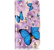 Para huawei p10 lite p10 caso de telefone padrão de borboleta processo de envernizamento material de couro de couro caixa de telefone p10