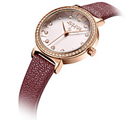 Women's Fashion Watch Japanese Quartz Water Resistant / Water Proof Leather Band Black White Red Khaki