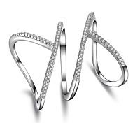 Массивные кольца Цирконий Уникальный дизайн Геометрический Панк Rock Euramerican Массивные украшения Простой стиль Chrismas Классика