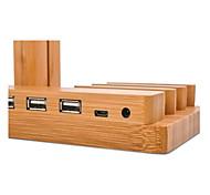 Стойка для часов для яблочных часов серии 1 2 ipad iphone 7 6 плюс 5 5s 5c деревянная подставка all-in-1 38 мм / 42 мм с кабелем