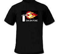 LED-футболка 100% хлопок 2 батареек AAA