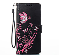 For Samsung Galaxy S8 S8 Plus Case Cover Butterfly Flowers Pattern PU Material Card Stent Wallet Phone Case S7 Edge S7 S6 Edge S6 S5 S4 S3 S2