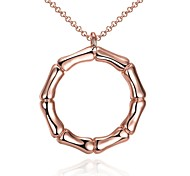 Women's Choker Necklaces Pendant Necklaces Jewelry Round GeometricRose Gold Crystal Copper Gold Plated Zinc Alloy Chrome Rose Gold Plated