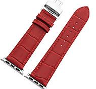 Bracelete de faixa de relógio mstre para relógio de maçã série 1/2 fivela de borboleta de couro de estilo nacional 38mm / 42mm