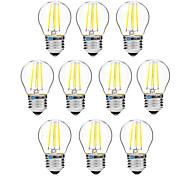 4W Bombillas de Filamento LED G45 4 COB 300 lm Blanco Cálido Blanco Regulable V 10 piezas