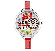 Women's Fashion Watch Quartz Digital Water Resistant / Water Proof PU Band White Red
