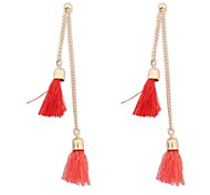 Bohemian Fashion Delicate  Double Tasseles Lady Party  Earrings Statement Jewelry
