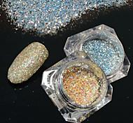 2bottles/set 0.2g/bottle Fashion DIY Shining Pigment Nail Art Platinum Glitter Power Galaxy Starry Effect Gorgeous Decoration BG09&12
