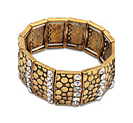 Chain Bracelet Bangles Alloy Rhinestone Circle Friendship Turkish Movie Jewelry Handmade Vintage Punk Rock Men's Women's Couple's