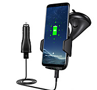 Fast Car Wireless Charger 10.8W Fast Charge Vehicle-mounted Holder for Samsung S8 S8 S7 S7 edge S6 edge Plus Note5 and All Qi Smartphone