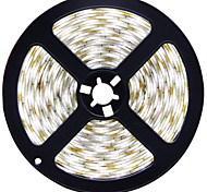 HKV® 1PCS 4014 SMD 5M 600LED LED Strip Waterproof LED Ribbon LED Tape Light Cool White Warm White Super Bright Than  DC 12V