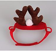 Кошка Аксессуары для шерсти Одежда для собак Косплей Рождество Северный олень Красный