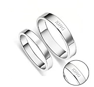 Fashionable men and women couples wedding rings on the ring plate smooth simple Weijie wholesale can be customized lettering