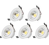Downlight de LED Branco Quente Branco Frio LED 5 pçs