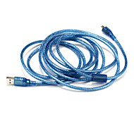 USB 2.0 Cable, USB 2.0 to Micro USB Type B Cable Male - Male 3.0m(10Ft)