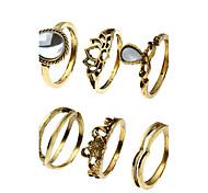 1Set Women's Cuff Ring Ring Band Rings Geometric Fashion Hip-Hop Personalized Ferroalloy Chrome Jewelry ForDailywear Sport Sports Vacation