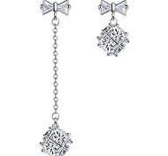 Stud Earrings Drop Earrings New Mismatching Asymmetry Earrings Luxury Fashion Silver Rhinestone Rubik's Cube For Women Party Daily  Gift Jewelry