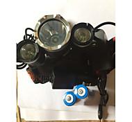 Освещение Налобные фонари Велосипедные фары LED 5000 Люмен 4.0 Режим Cree XM-L T6 18650 Водонепроницаемый Перезаряжаемый Ударопрочный