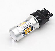 2x Amber / Yellow T25 3157 Canbus Error-Free 21SMD 3030 LED Backup Reserve Bulb