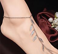 Жен. Ножной браслет/Браслеты Сплав Мода В форме листа Бижутерия Назначение Повседневные Одежда для отдыха на природе