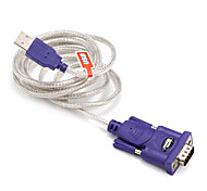 USB 2.0 Cable adaptador, USB 2.0 to RS232 Cable adaptador Macho - Macho 1,5 m (5 pies)