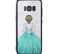 Чехол для samsung galaxy s8 s8 плюс чехол для крышки новый лак рельефный фон богиня pc backboard tpu бортовой телефон чехол
