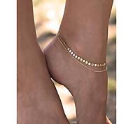 Жен. Ножной браслет/Браслеты Медь Мода бижутерия Бижутерия Назначение На каждый день Повседневные