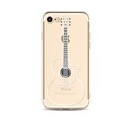 Чехол для iphone 7 плюс 7 крышка прозрачный узор задняя крышка чехол мультяшная гитара soft tpu для apple iphone 6s плюс 6 плюс 6s 6 se 5s