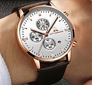 Муж. Модные часы Кварцевый Календарь Защита от влаги Кожа Группа Черный Коричневый