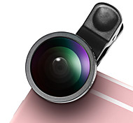 LIEQI LQ-003 Phone Lens Fish-Eye Lens 0.5X Wide-Angle Lens Macro Lens Aluminum 10X Cell Phone Camera Lenses Kit for Samsung Android  iPhone