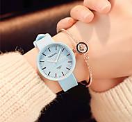 Жен. Модные часы Наручные часы Китайский Кварцевый силиконовый Группа Конфеты Повседневная Элегантные часы минималист Черный Белый